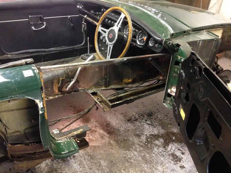 Another view of the driver's side stripped out