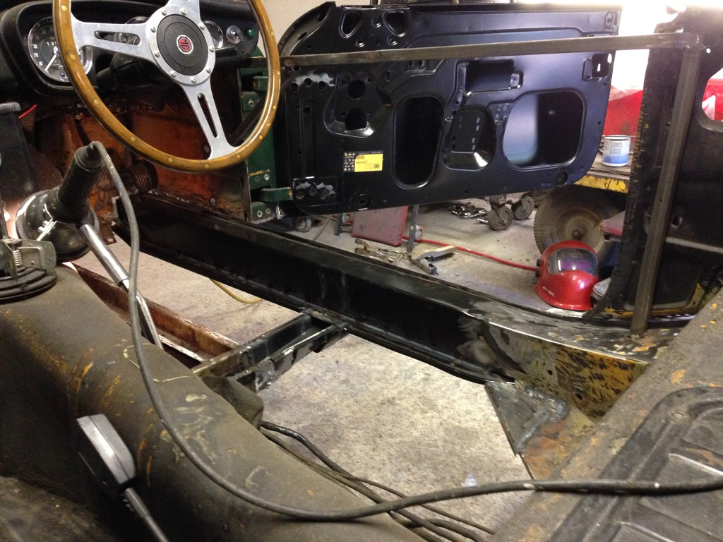 Driver's side sill welded in